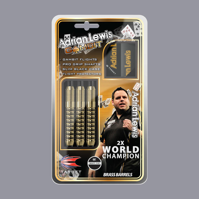 Adrian lewis Gambit Brass Dart Packaging
