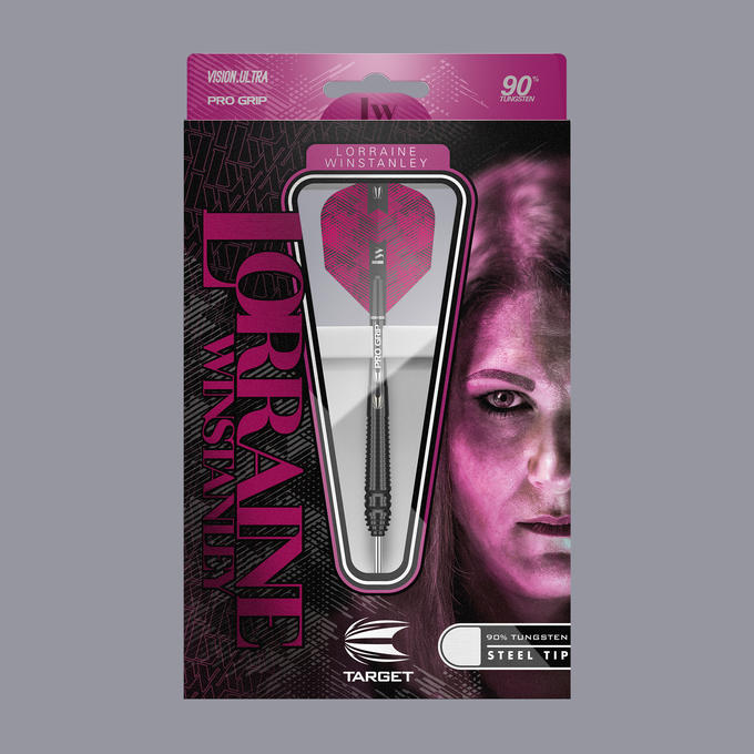 Lorraine Winstanley 90% Dart Steel Tip Packaging