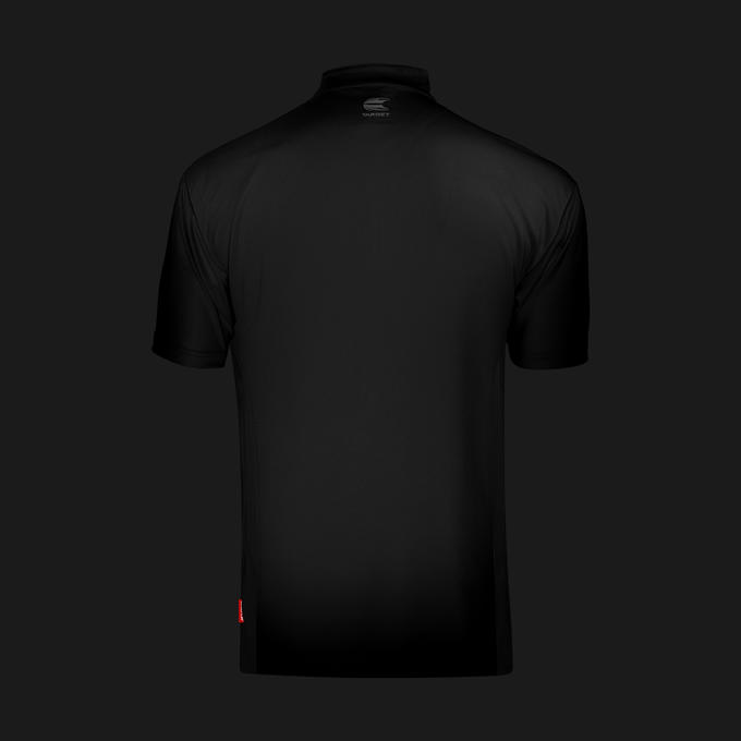 Coolplay Collarless Shirt Black - Back View