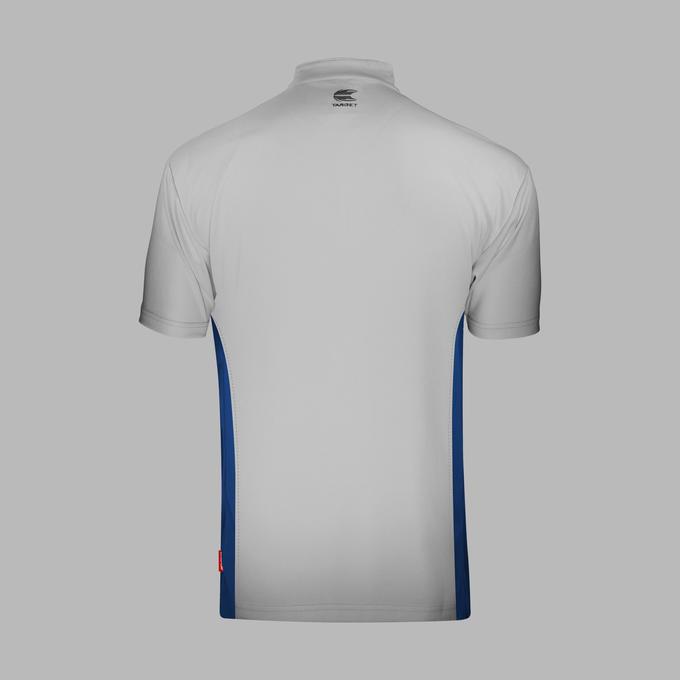 Coolplay Collarless Shirt Light Grey & Blue - Back View