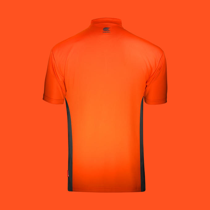 Coolplay Collarless Shirt Orange and Dark Grey - Back View