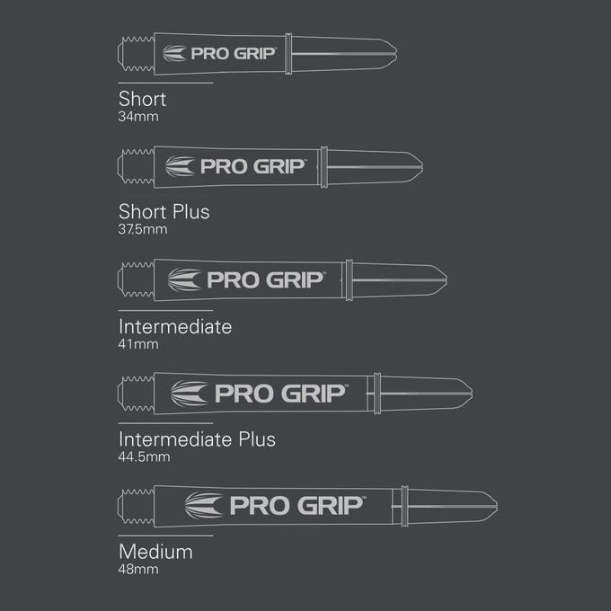 Pro Grip White Shaft sizes