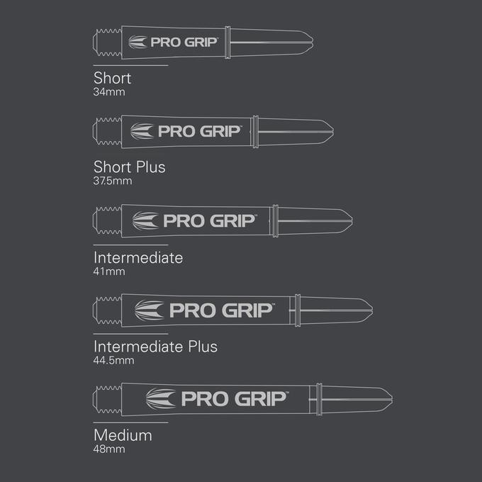 Pro Grip White Shaft sizes
