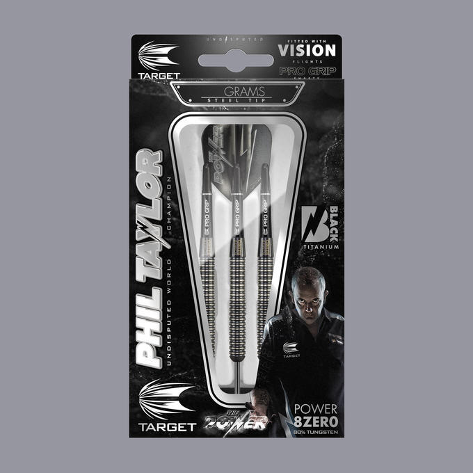 Phil Taylor Power 8-Zero Black P8Z1 Packaging