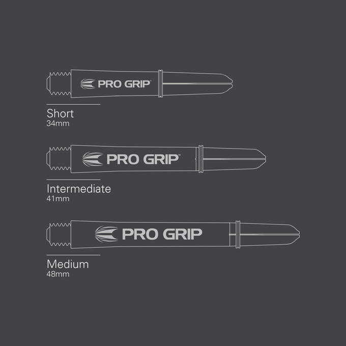 Pro Grip Spin Vision Black Shaft sizes
