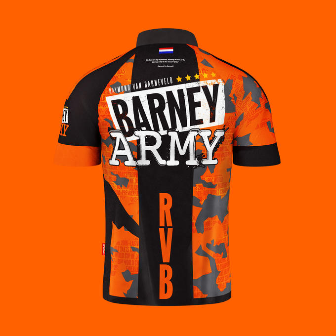 Official Raymond Van Barneveld Generation 3 Playing Shirt - Front