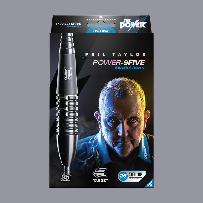 Phil Taylor Power 9-Five Gen 4 packaging