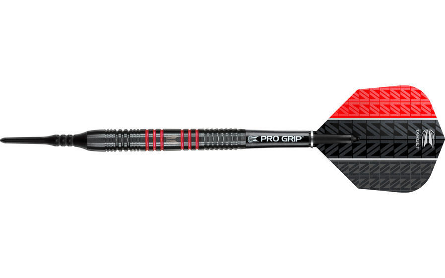 Vapor8 Black Red Soft Tip Dart