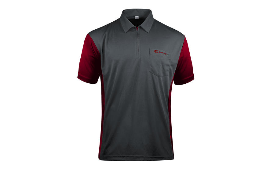 Coolplay Hybrid 3 Grey and Ruby Shirt - Front View