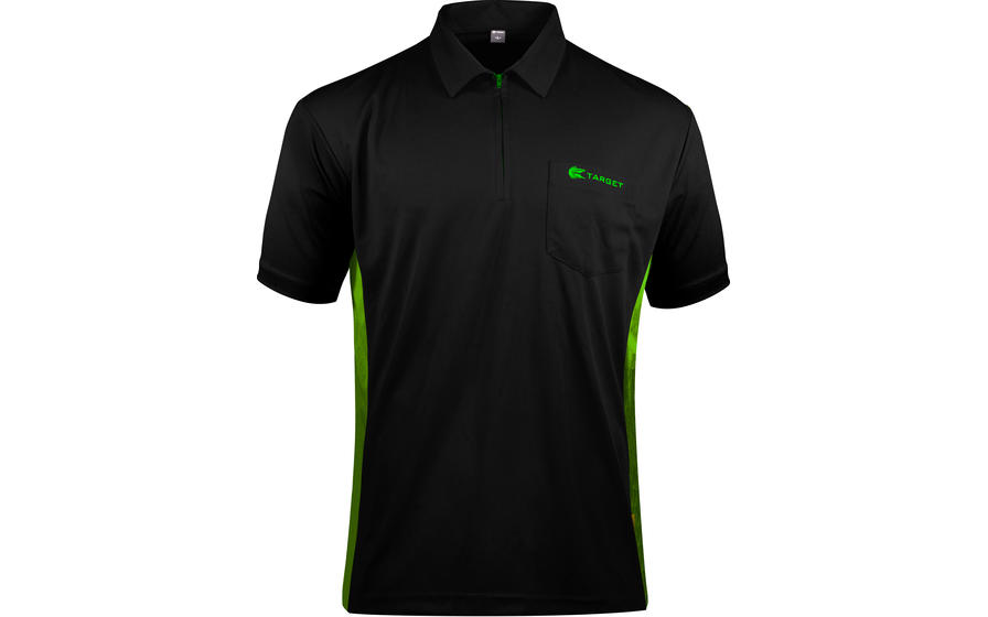 Coolplay Hybrid Black and Green Shirt - Front View