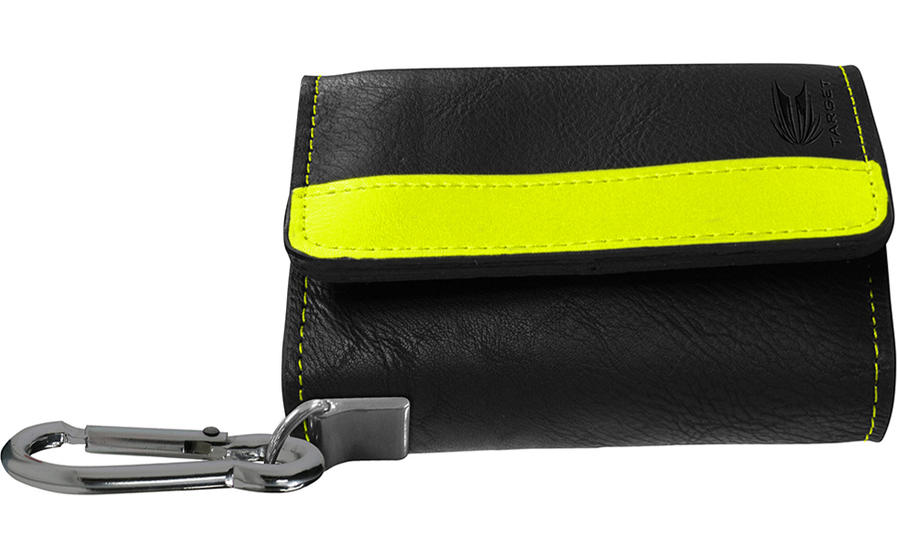 Montana Wallet - Black with Yellow Strip