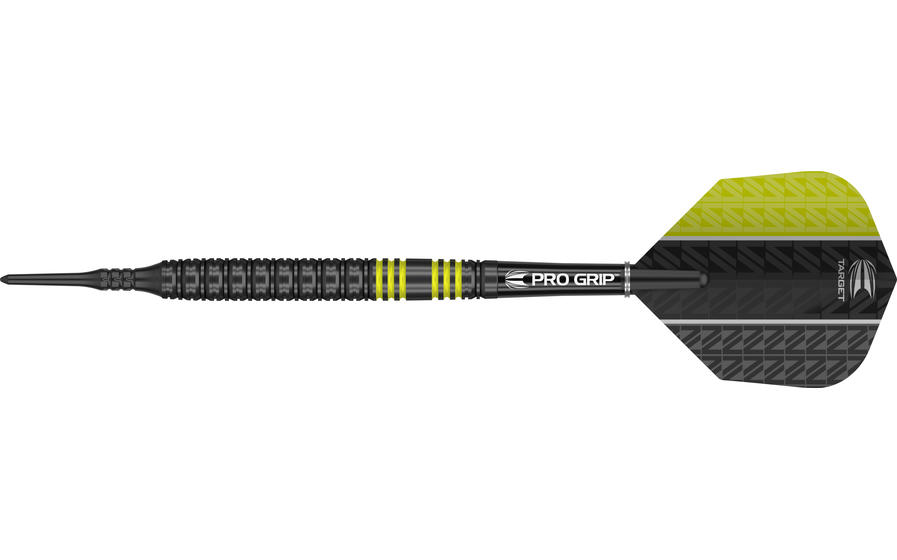 Vapor8 Black Yellow Soft Tip Dart