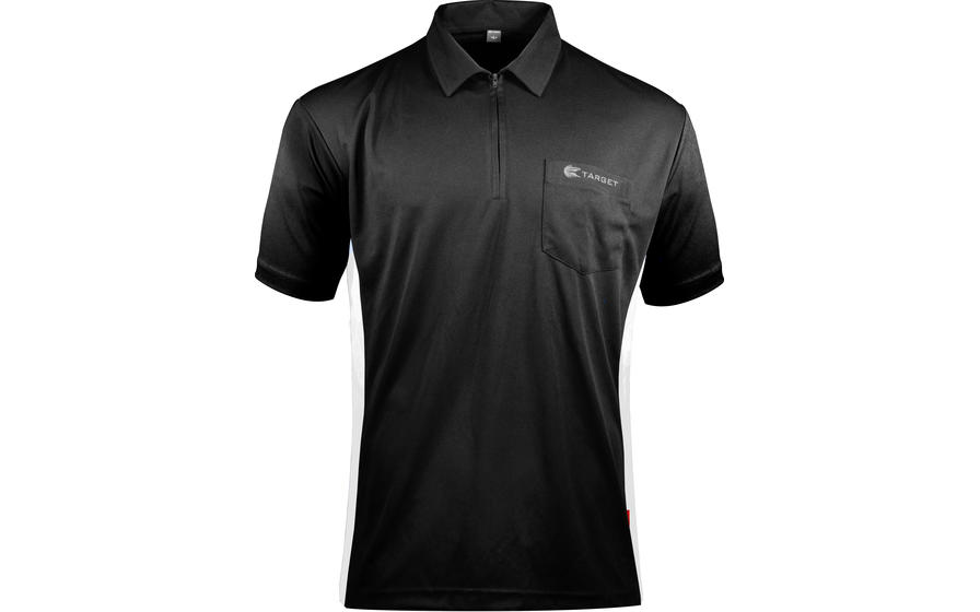 Coolplay Hybrid Shirt - Black & White - Front View