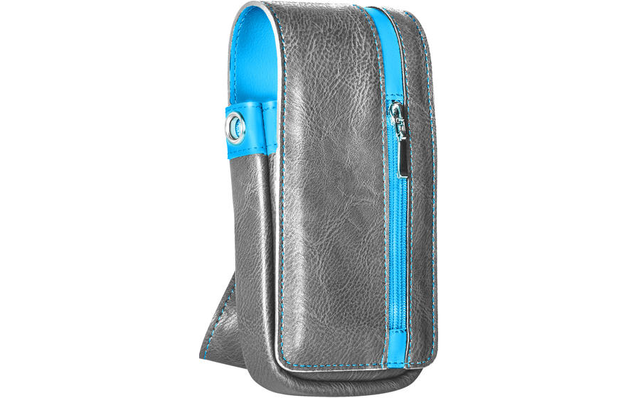 Daytona Wallet - Grey with Blue Strip
