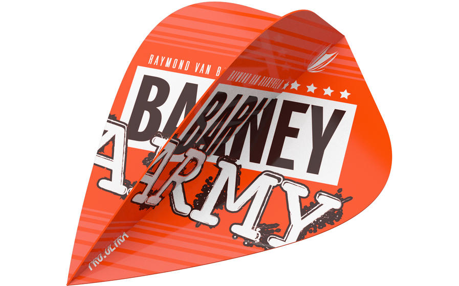 Raymond Van Barneveld Barney Army Orange Kite