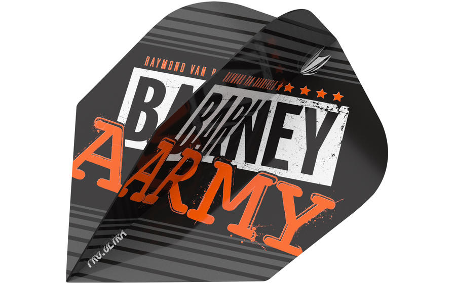 Raymond Van Barneveld Barney Army Black Ten-X Flight