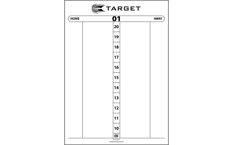 Dry Wipe Score Sheet