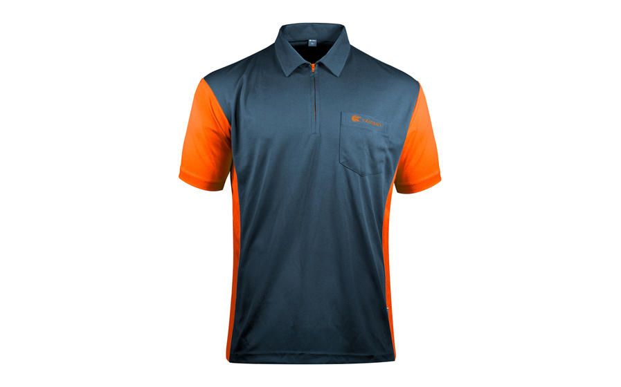 Coolplay Hybrid 3 Blue and Orange Shirt - Front View