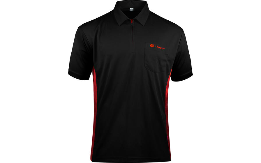 Coolplay Hybrid Black and Red Shirt - Front View