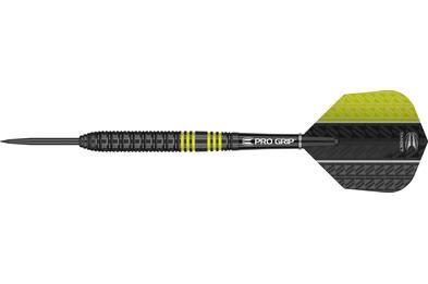 Vapor8 Black Yellow Steel Tip Dart