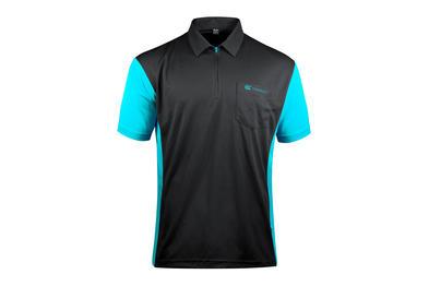 Coolplay Hybrid 3 Black and Aqua Shirt - Front View