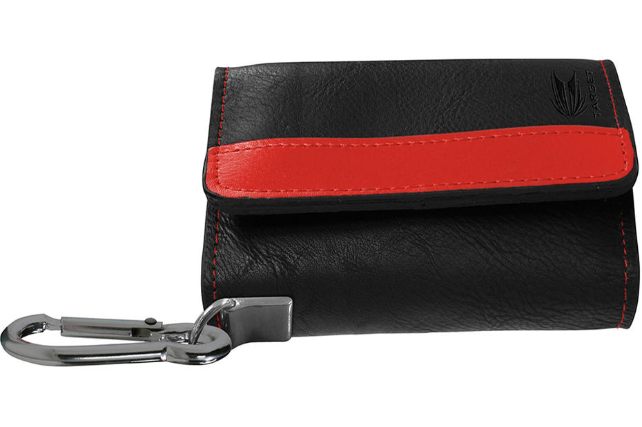 Montana Wallet - Black with Red Strip
