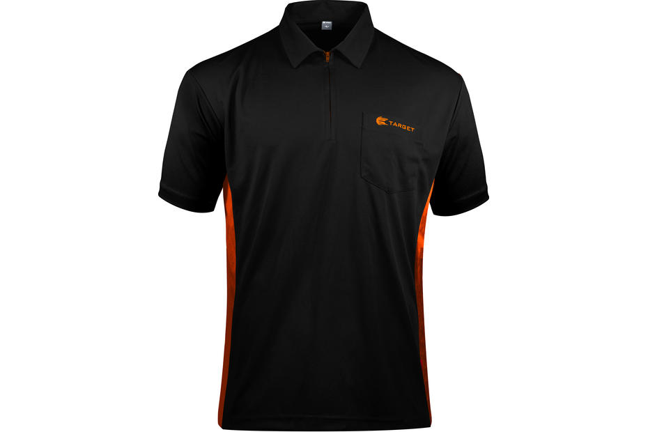 Coolplay Hybrid Shirt - Black & Orange - Front View