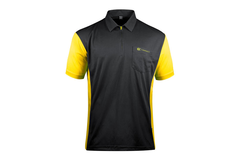 Coolplay Hybrid 3 Black and Yellow Shirt - Front View