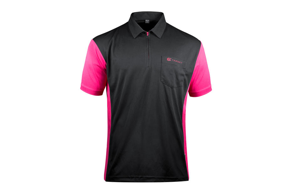 Coolplay Hybrid 3 Black and Pink Shirt - Front View