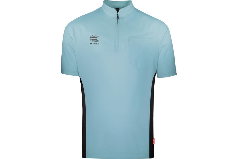 Coolplay Collarless Shirt Light Blue and Black