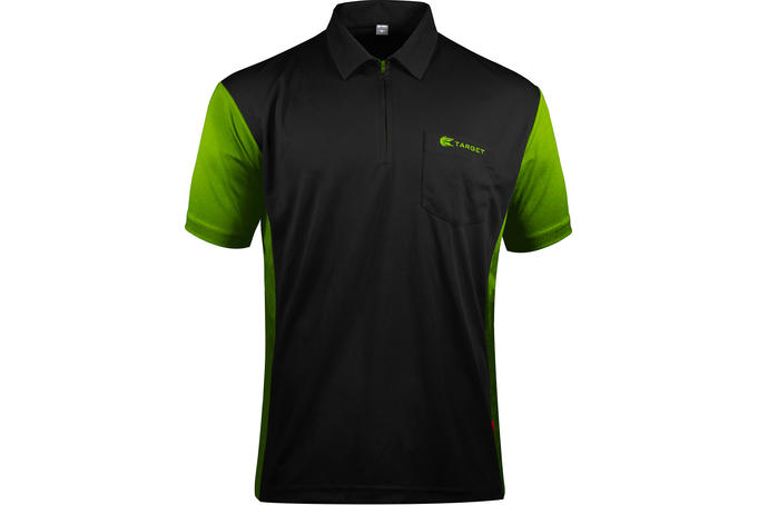 Coolplay Hybrid 3 Black and Green Shirt - Front View