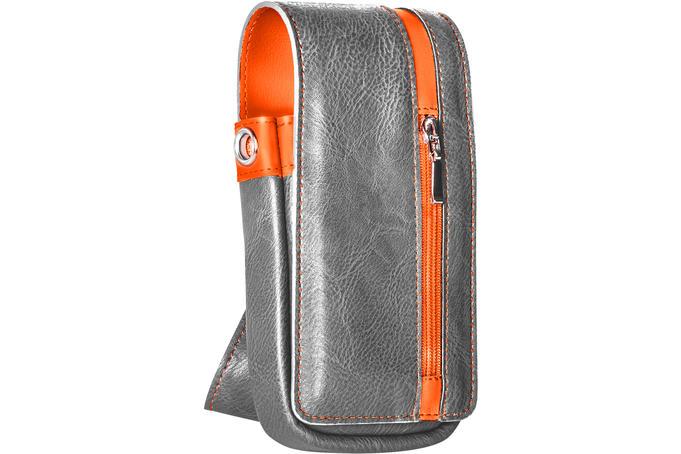 Daytona Wallet - Grey with Orange Strip
