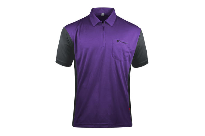 Coolplay Hybrid 3 Purple and Grey Shirt - Front View