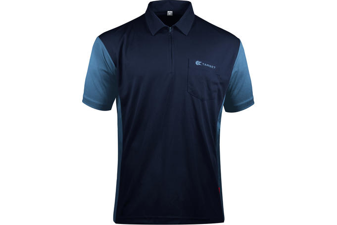 Coolplay Hybrid 3 Navy Blue and Light Blue Shirt - Front View