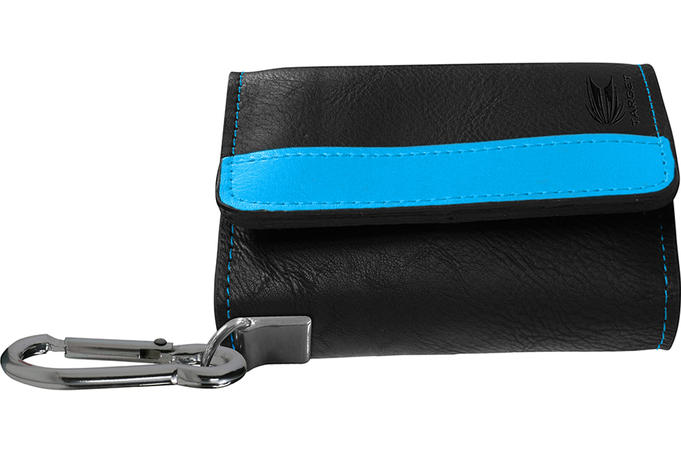 Montana Wallet - Black with Blue Strip