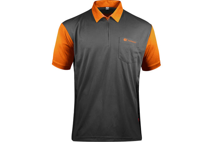 Coolplay Hybrid 2 Black and Orange Shirt - front View