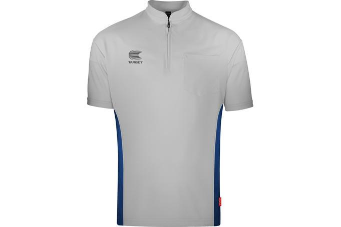 Coolplay Collarless Shirt Light Grey & Blue