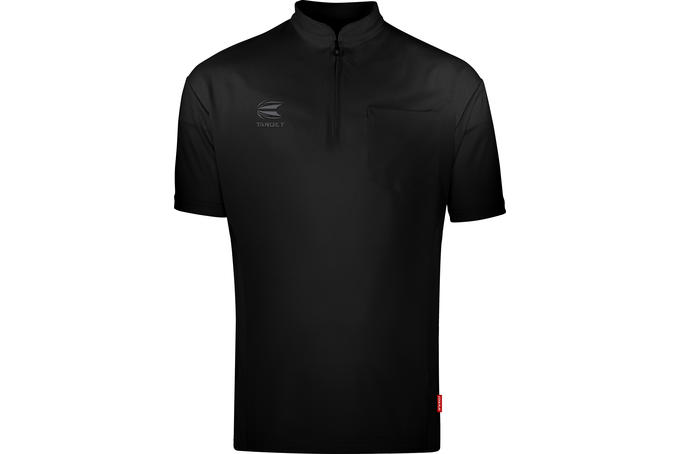 Coolplay Collarless Shirt Black - Front