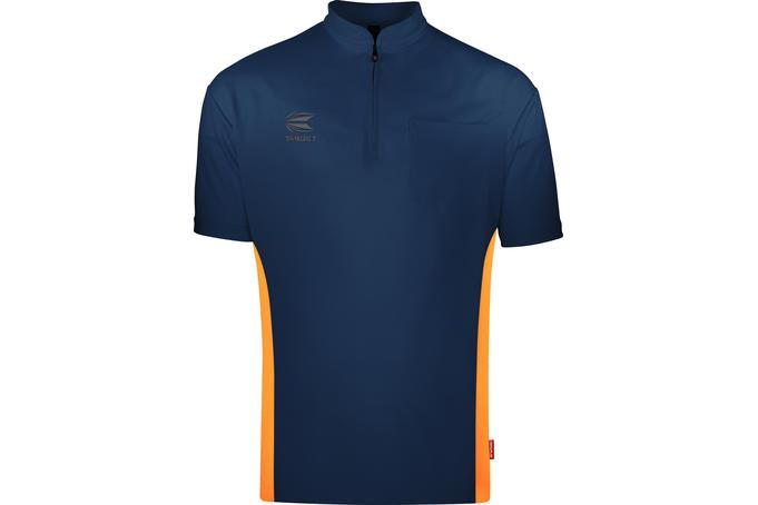 Coolplay Collarless Shirt Dark Blue/Orange