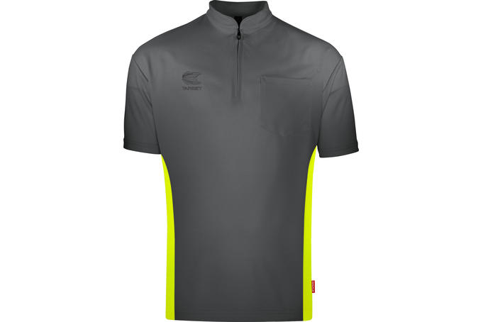 Coolplay Collarless Shirt Grey/Yellow