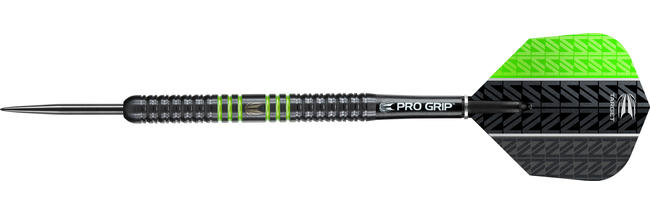Vapor8 Black Green Steel Tip Dart
