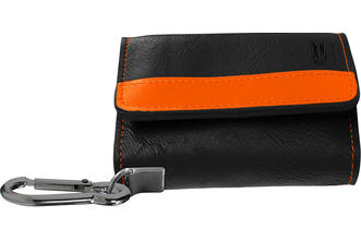 Montana Wallet - Black with Orange Strip