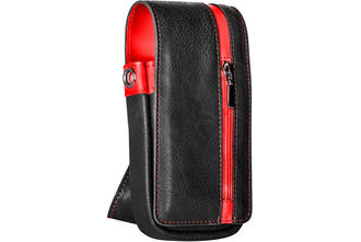 Daytona Wallet - Black with Red Strip