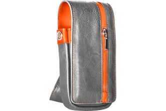 Daytona Wallet - Grey with Orange Strip